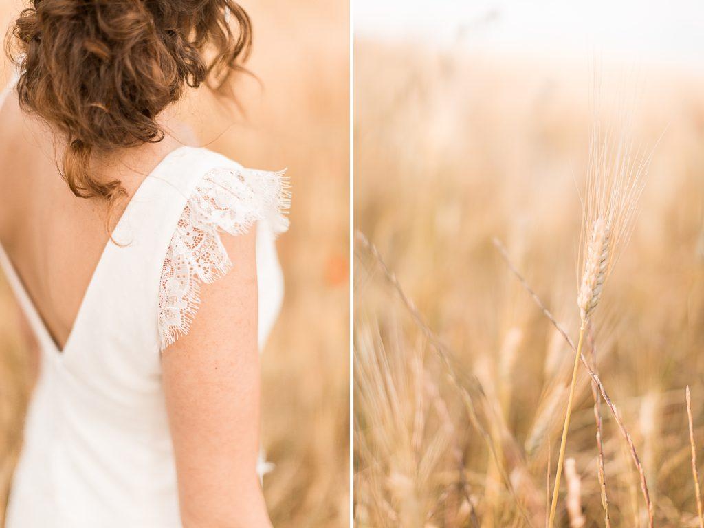robe de la mariée mariage château de la banquière