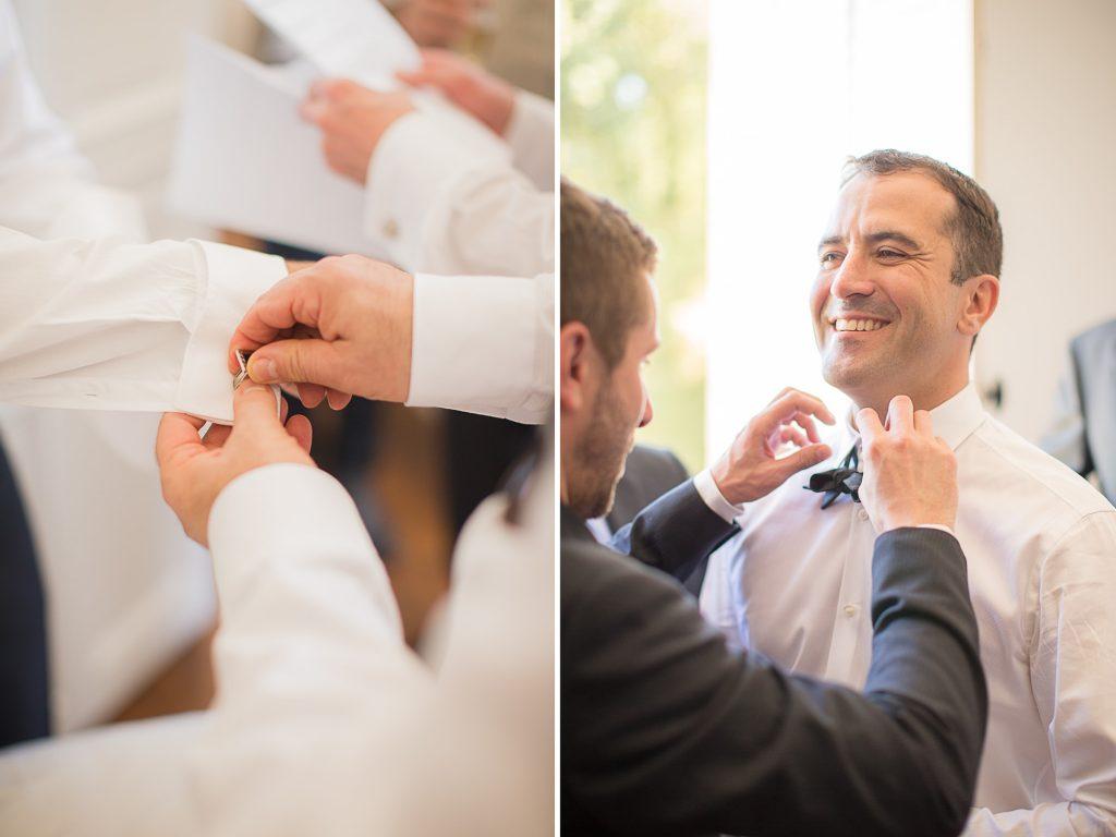 reportage des préparatifs du marié