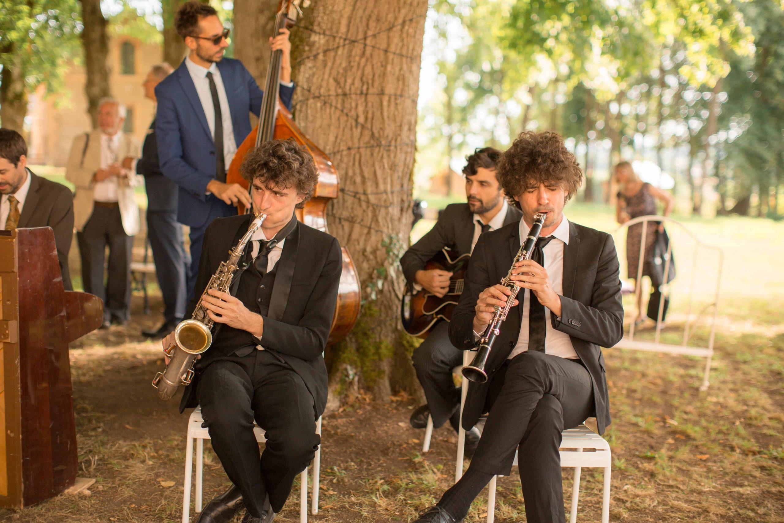 Musique live cocktail mariage
