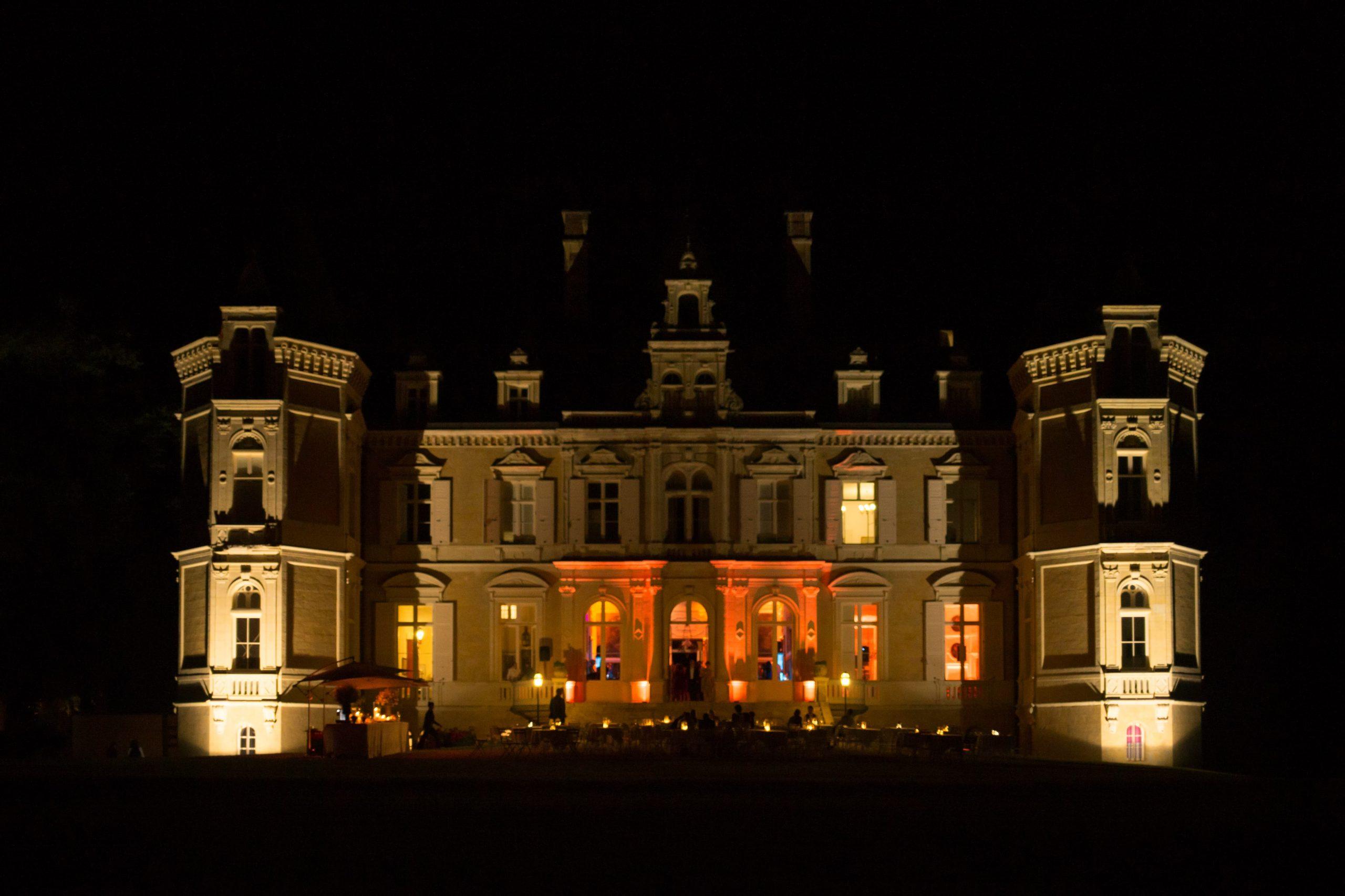 Photo du château d'Azy de nuit