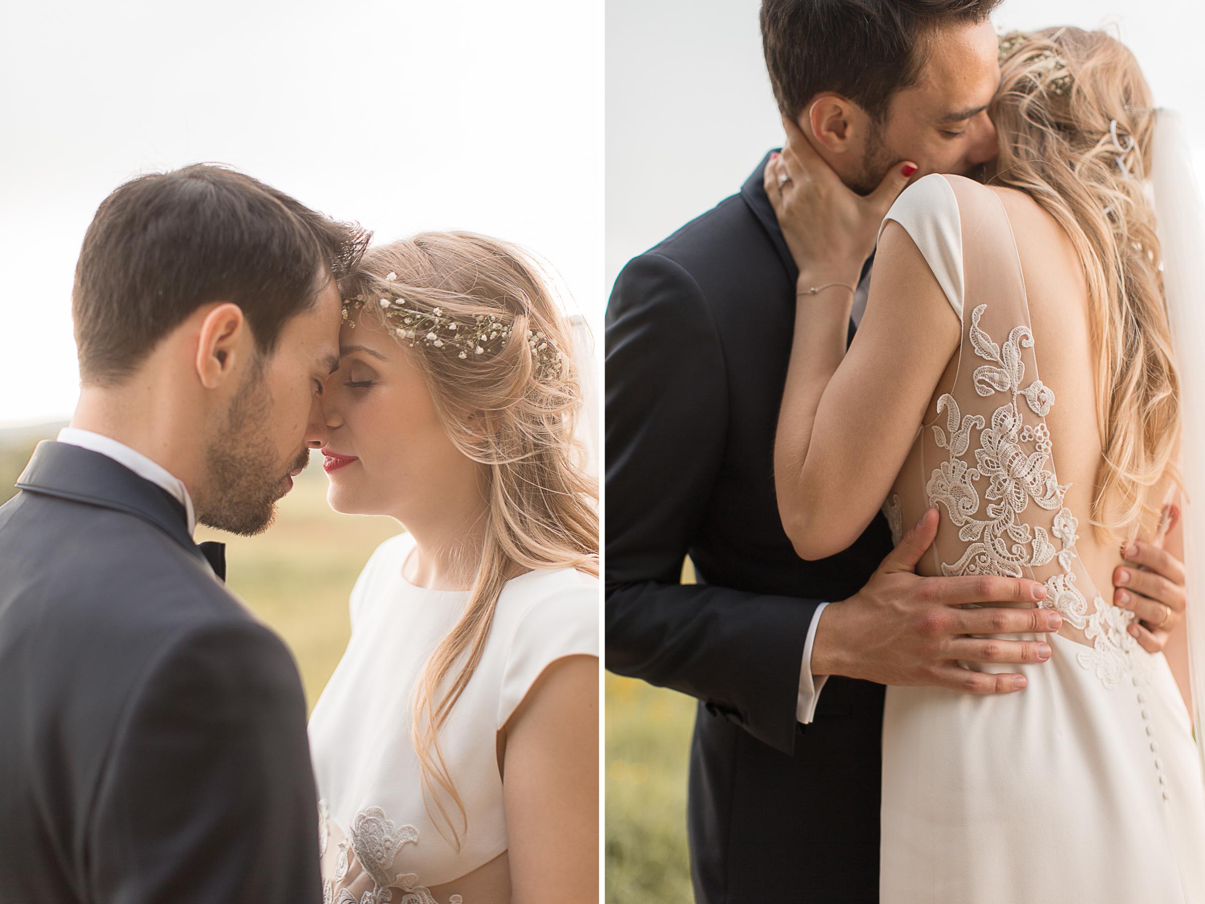séance photo couple mariage chic et élégant au château d'azy