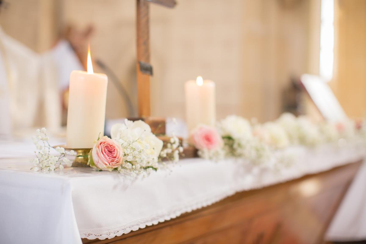 décoration florale de l'église saint sulpice