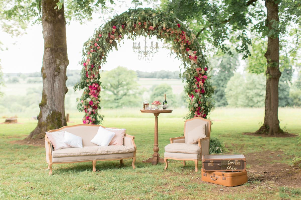 décoration florale pour le Photo Booth réalisé par autrement dit à nevers