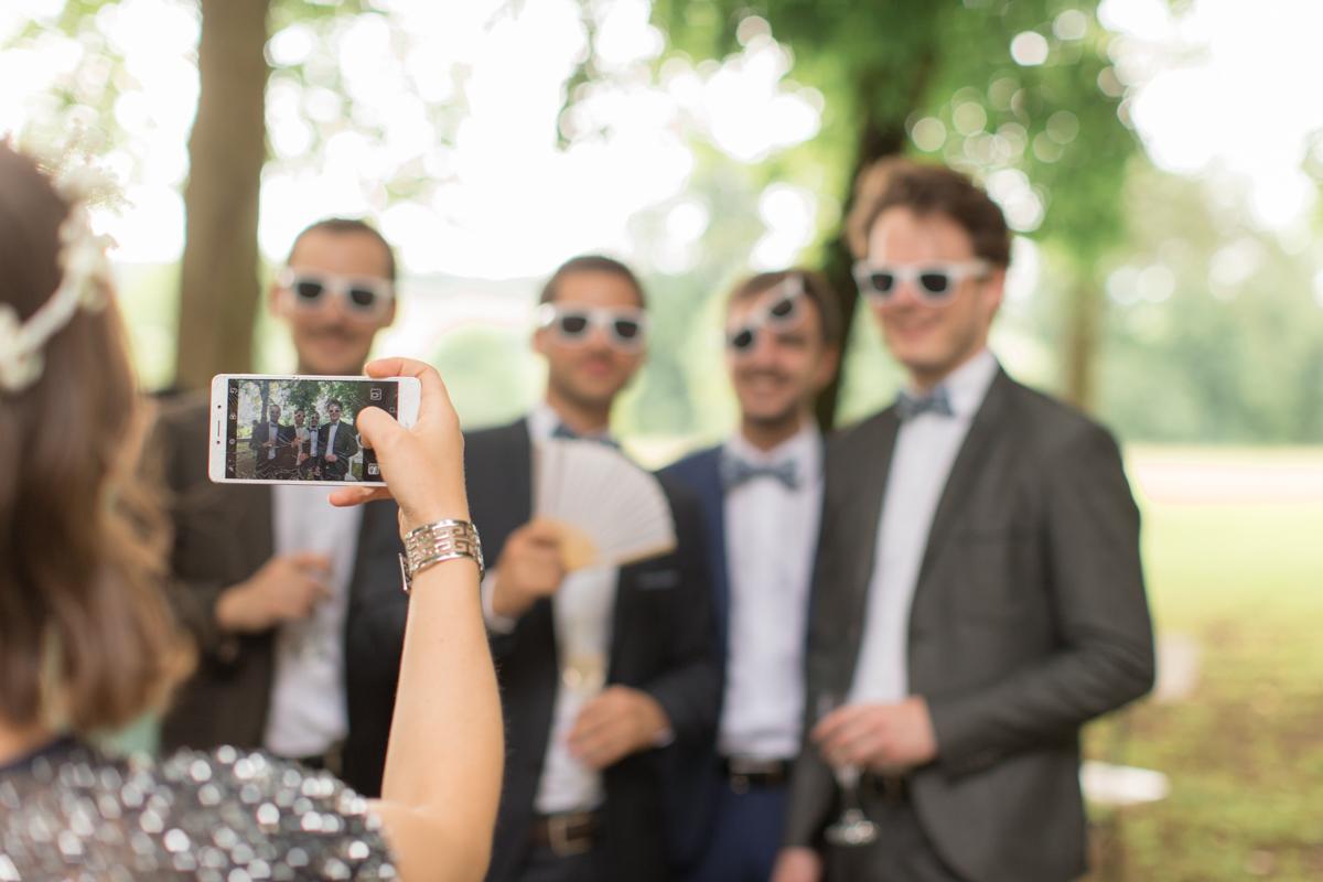 photo des témoins du marié
