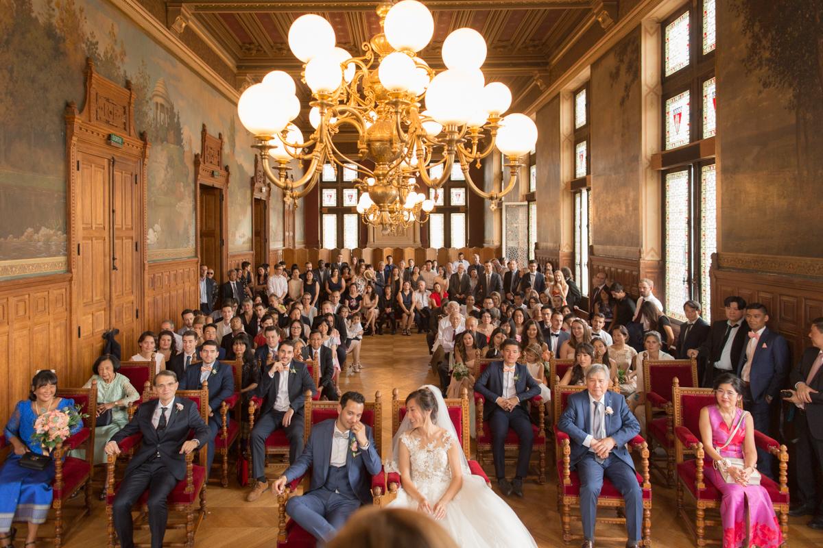 magnifique salle de mariage de la mairie de vincennes