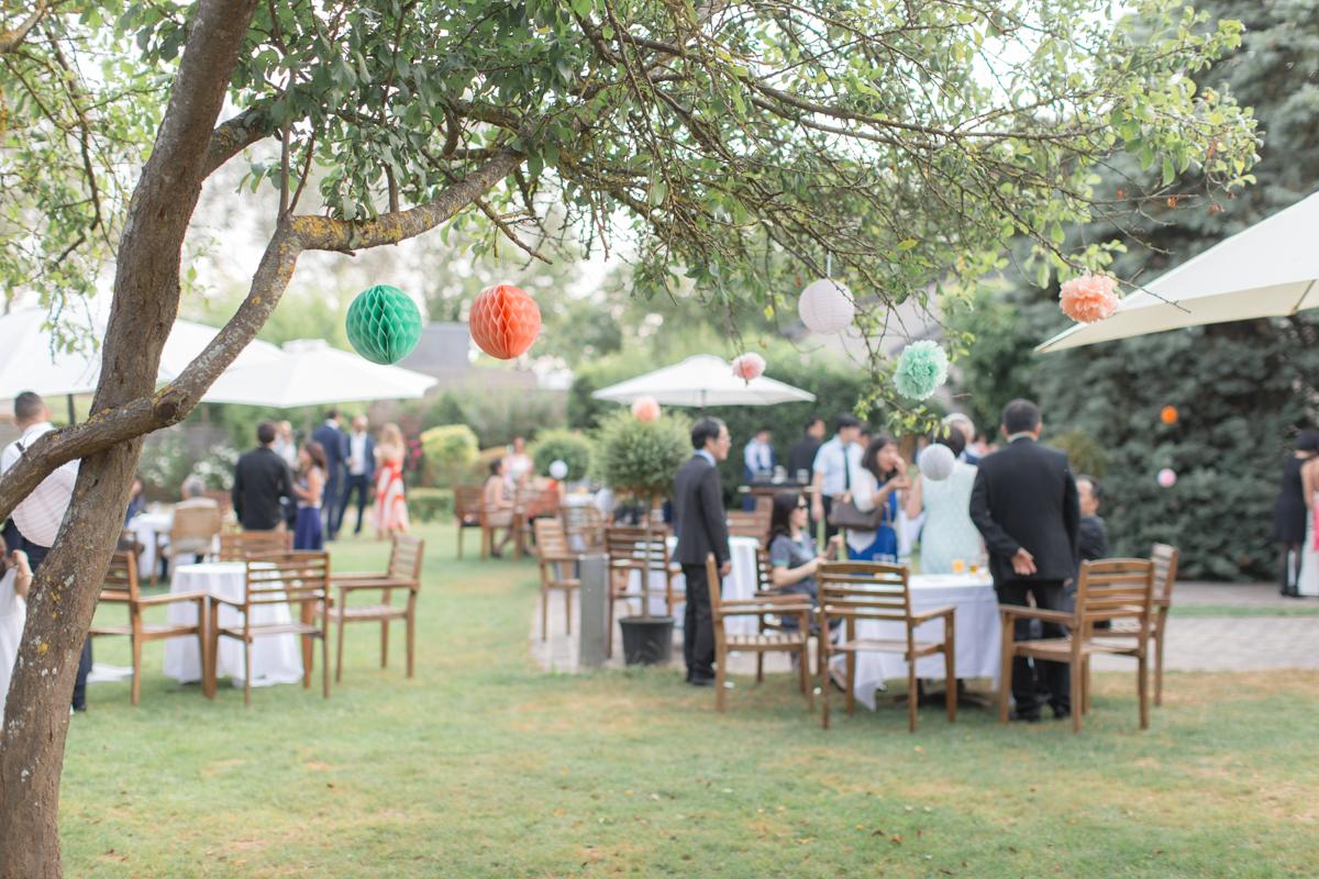 cocktail du mariage à la ferme du grand chemin dans le vexin