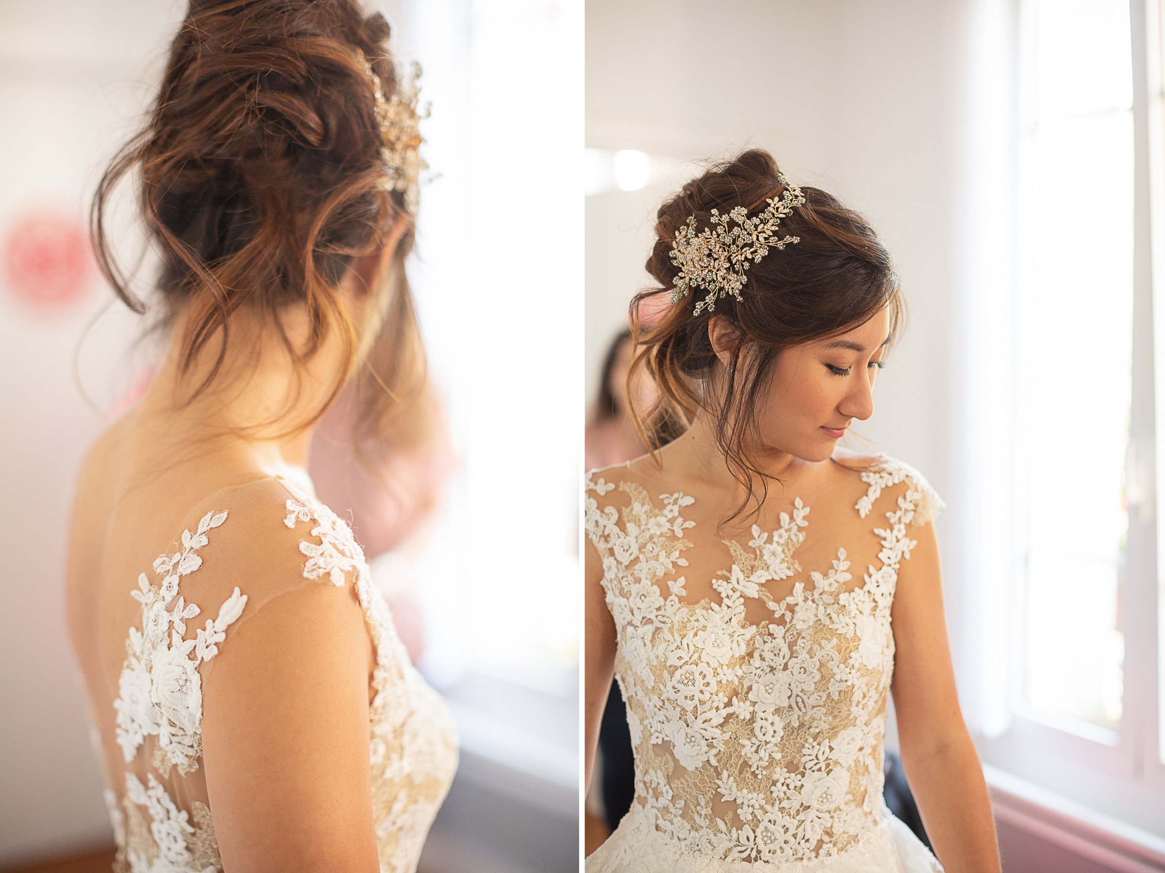 magnifiques détails de la robe de mariée