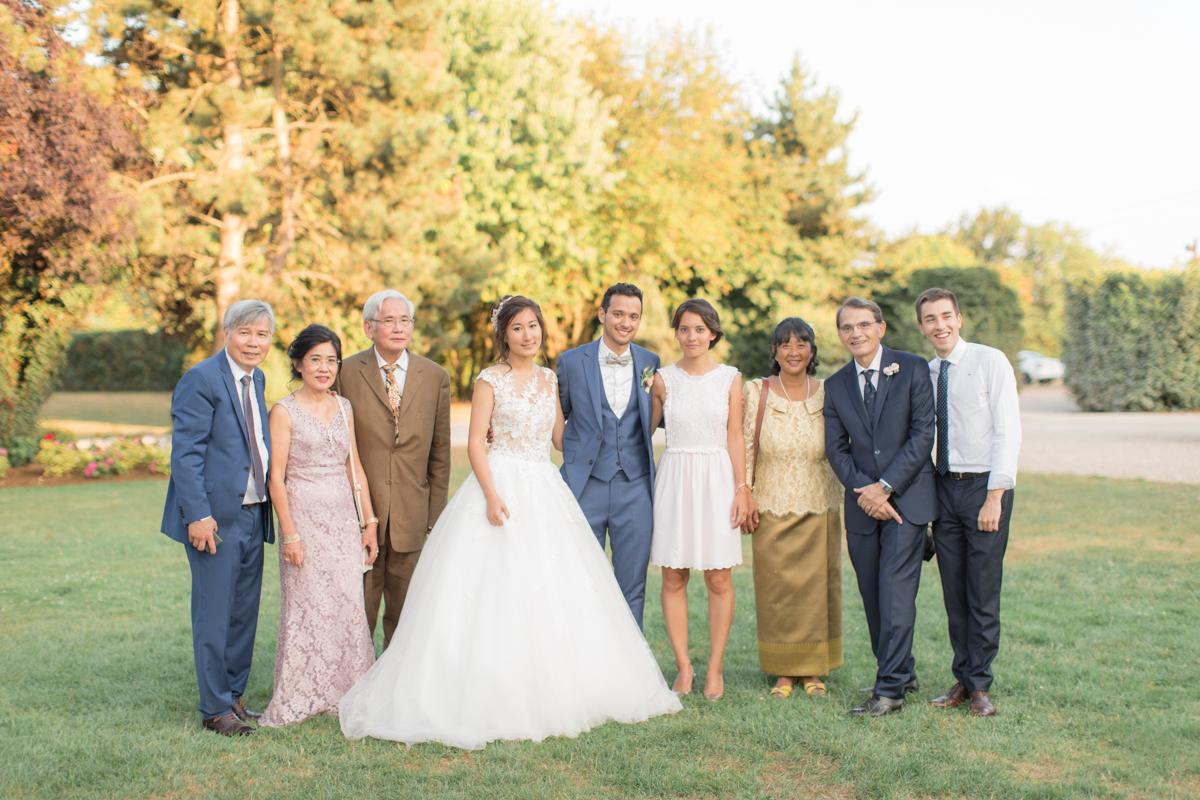 photo de la famille de la mariée