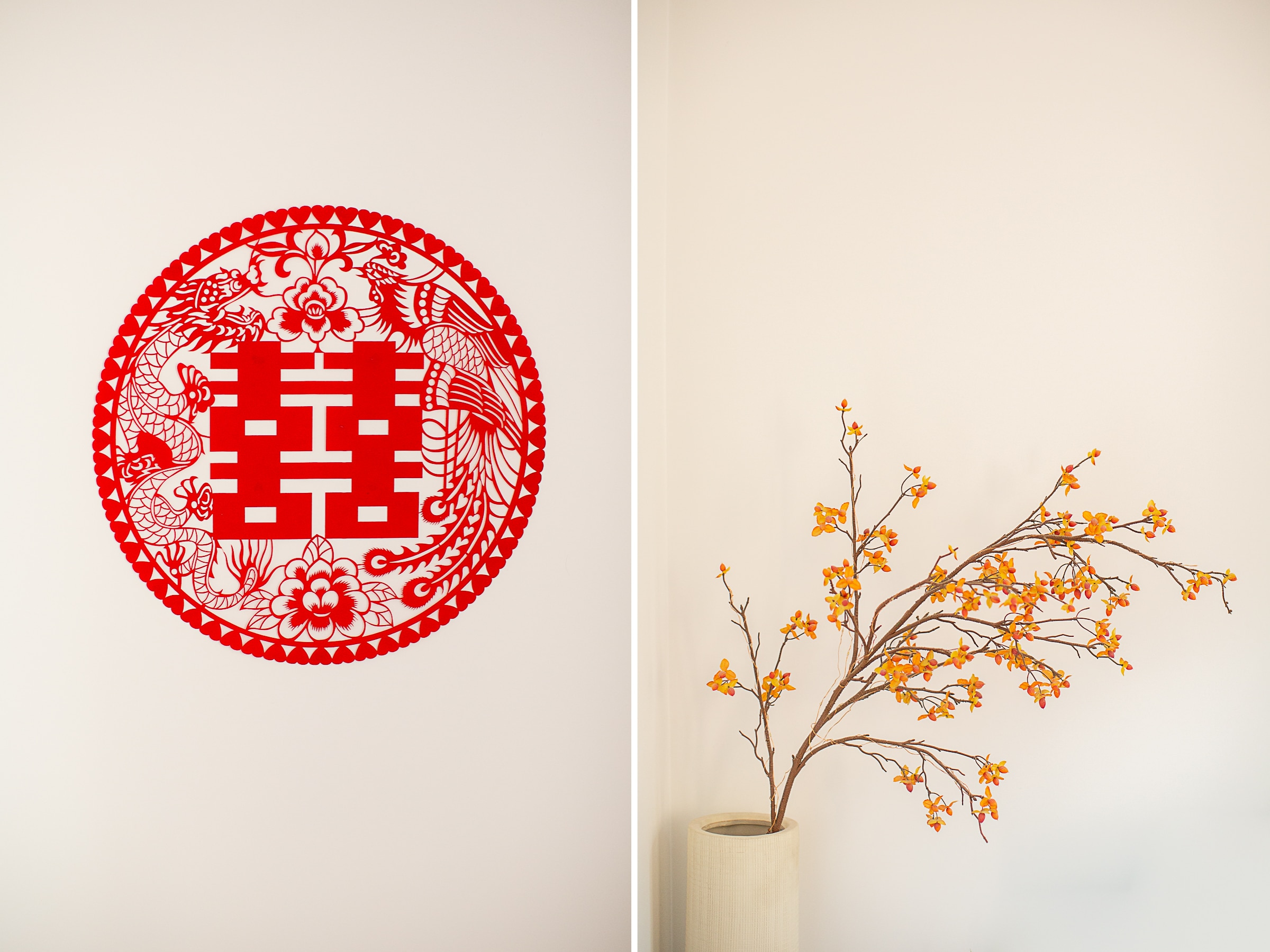 logo rouge traditionnel mariage chinois