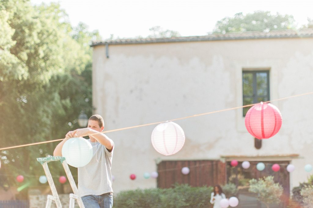 préparatifs mariage décoration