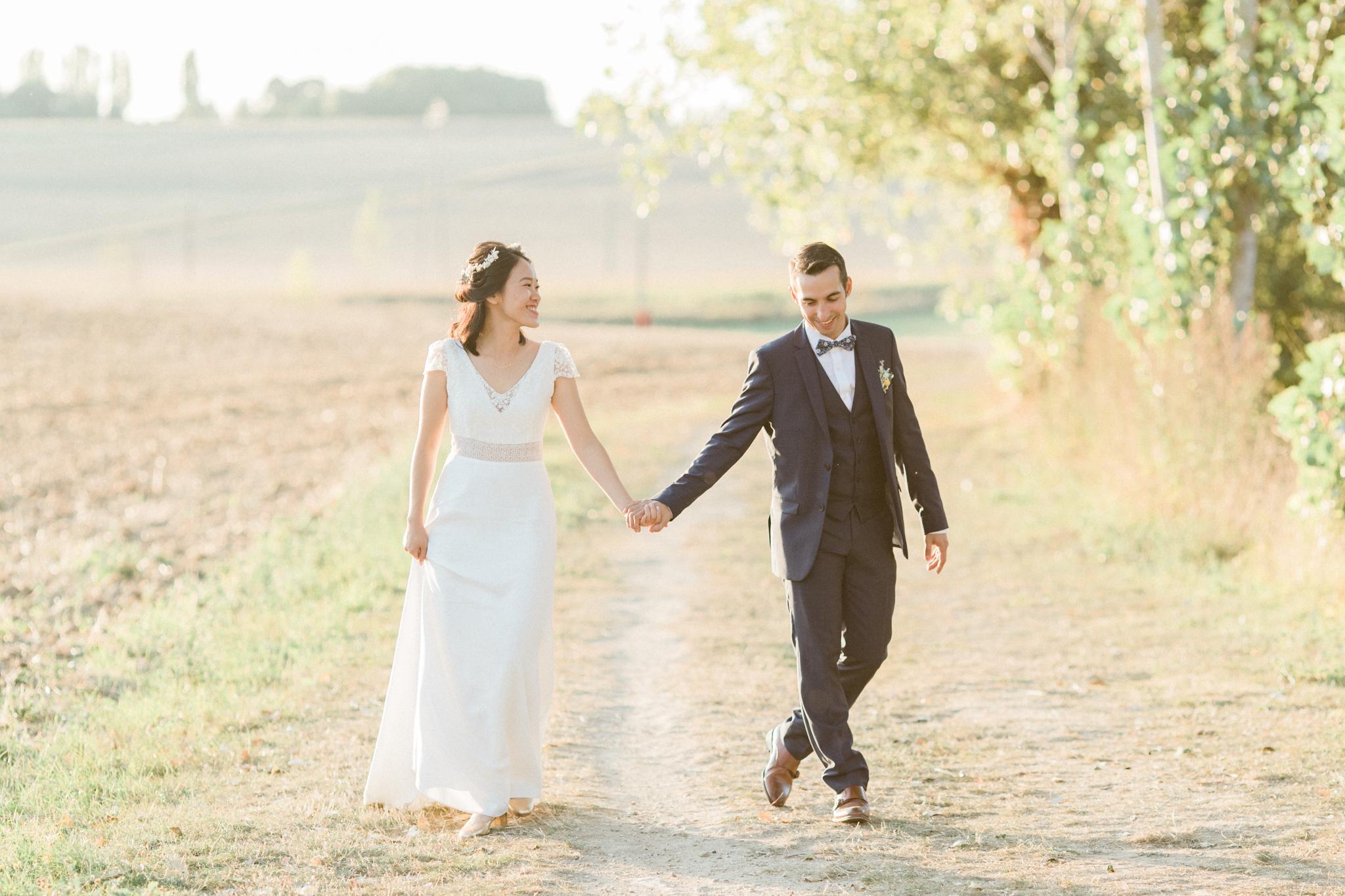 séance couple pendant le mariage