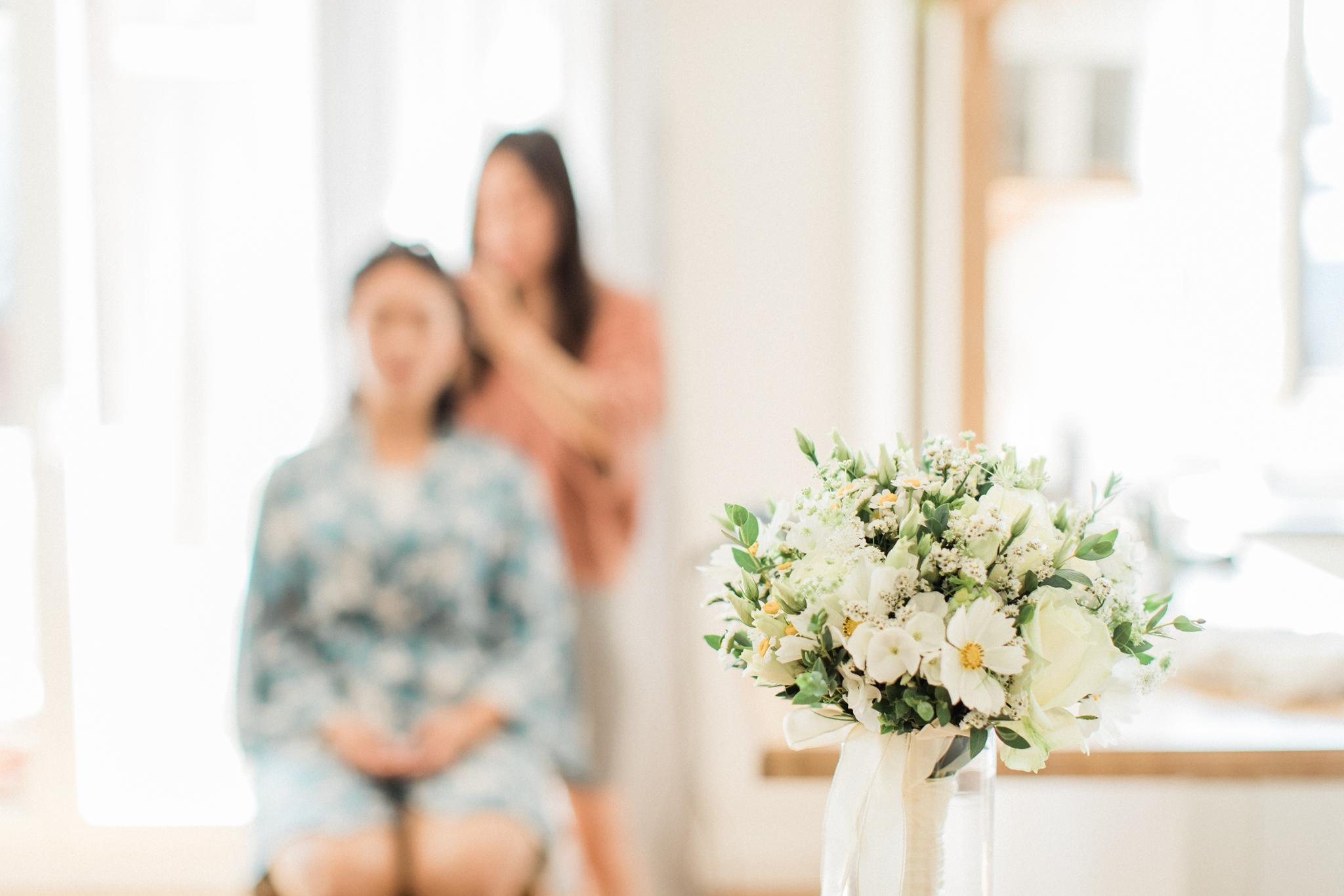 bouquet de la mariée simple élégant