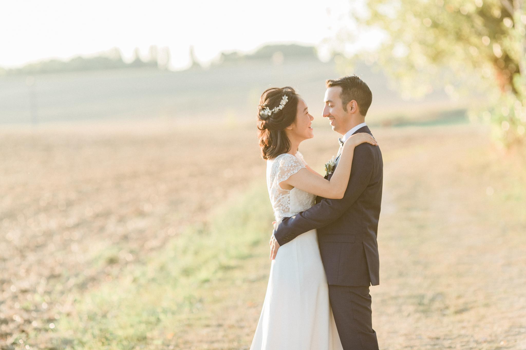 moment de connexion entre les mariés