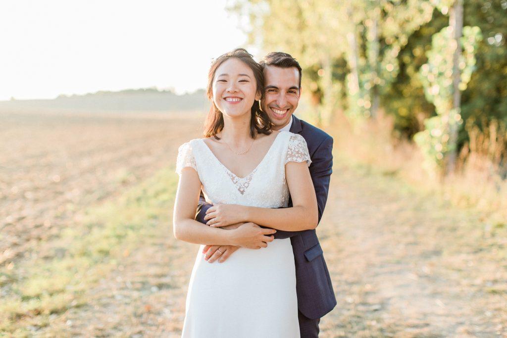 instant complice entre les mariés