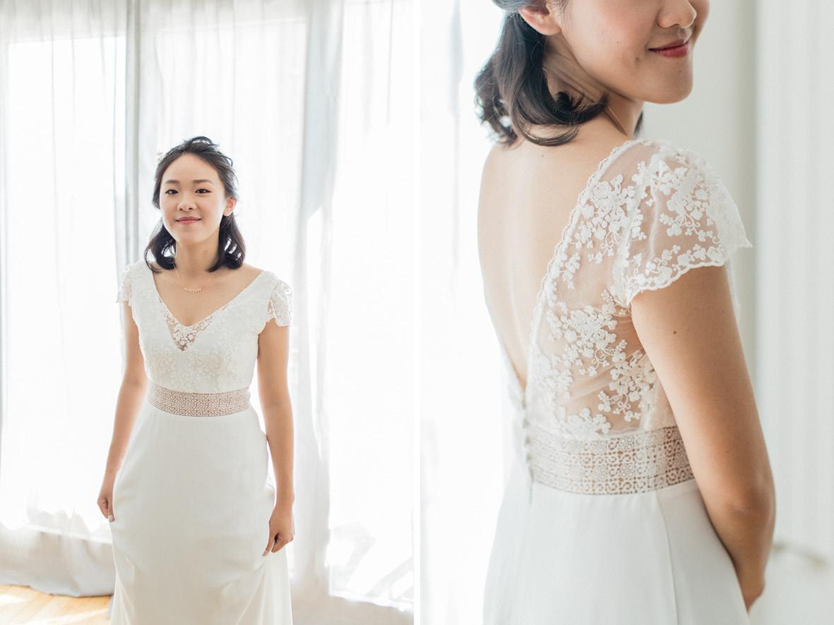 détails robe mariée Elba