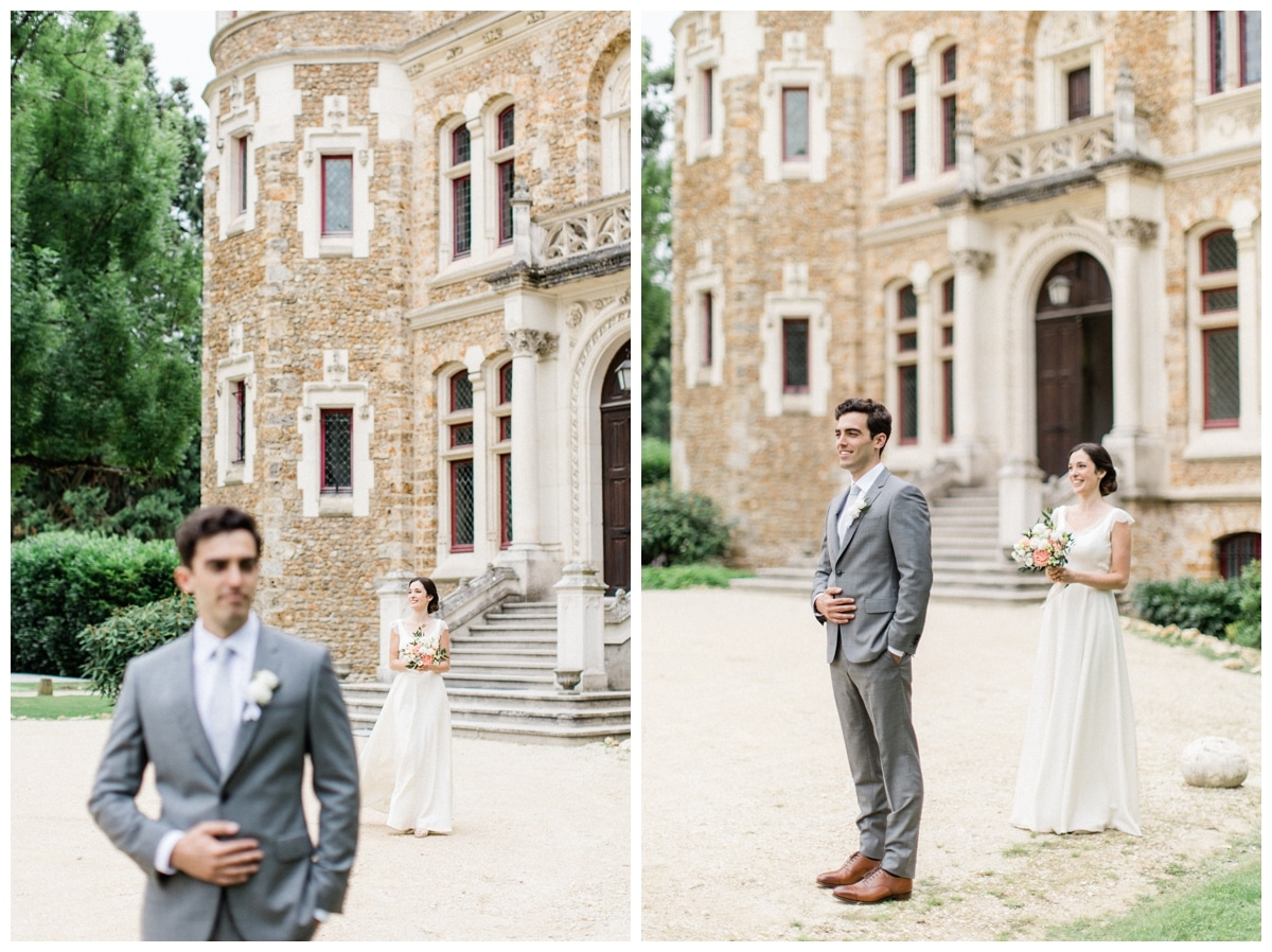 the first look wedding france