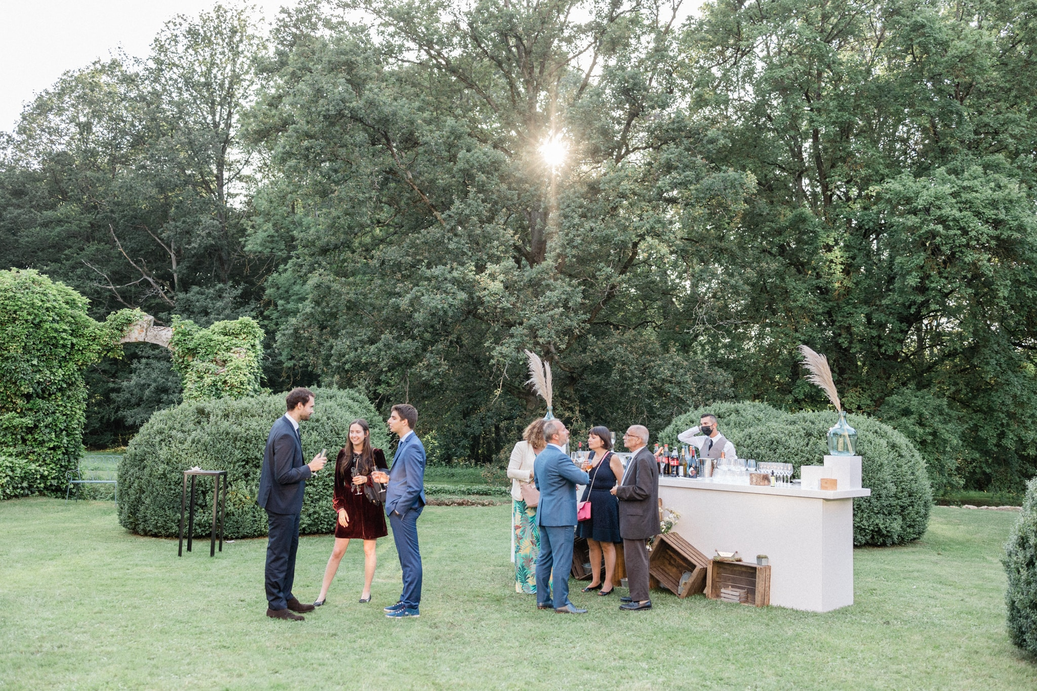 wedding in the chateau garden