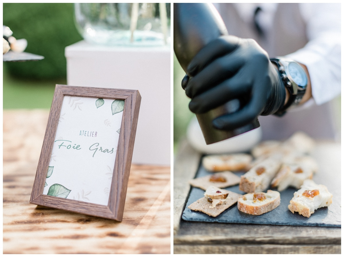 wedding food foie gras