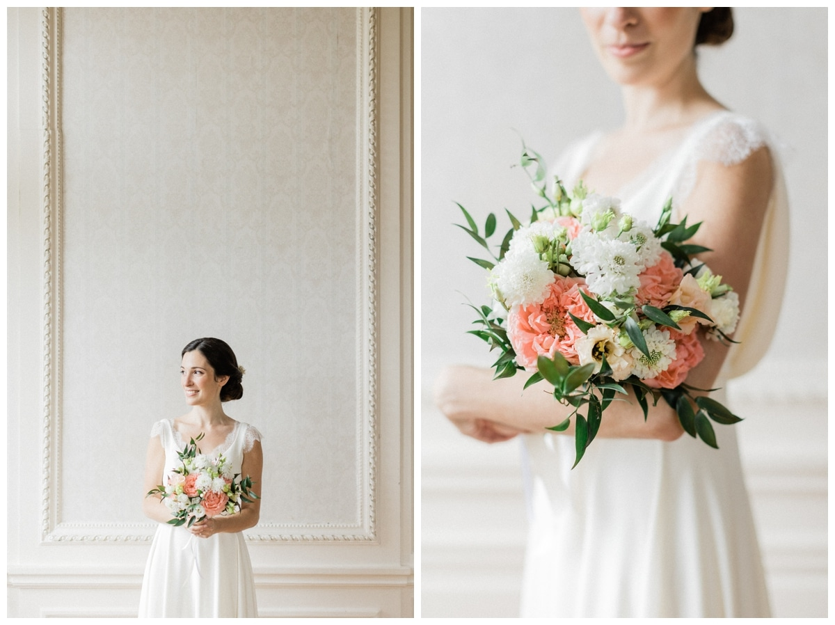 the bride and the bouquet