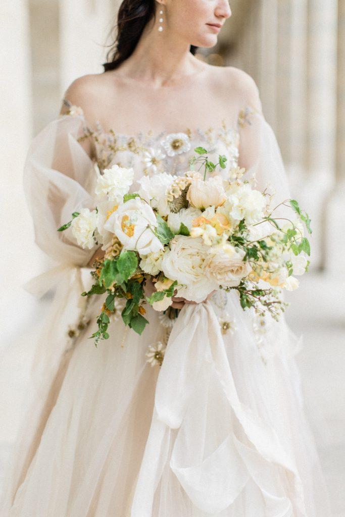 bouquet mariage raffiné paris